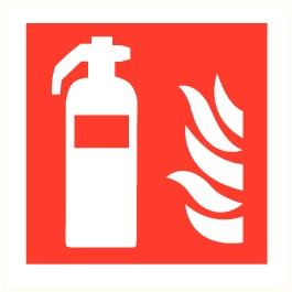 Pictogram brandblusser + vlam