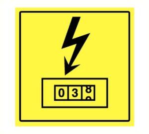 Pictogram elektrische teller