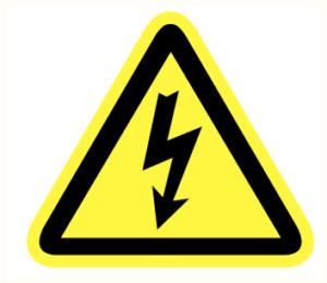 Pictogram elektrische spanning Pp150